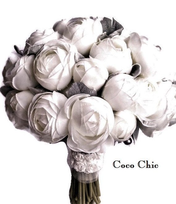 Winter Wedding Blue Silk Wedding Bouquet 20