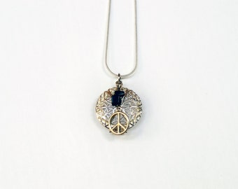 Aromatherapy Diffuser Necklace - Peace/Onyx