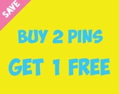 Buy 2 Lapel Pins Get 1 Free | Discounted Combo