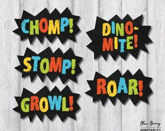 DINOSAUR CENTERPIECES. Dinosaur Party Printables. Dinosaur Birthday Party Supplies. Party Decor. Dinosaur Wall Decor. Dinomite. Roar. DIN1