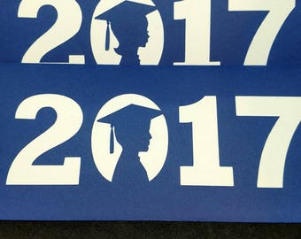 2017 Graduation money holder card- Graduate silhouette- most school colors available