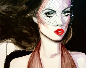 1970's Studio 54 Inspired Fashion Illustration Painting