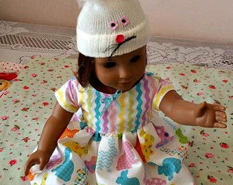 Bunny Dress and Hat Doll Outfit