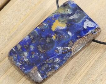 4cm BOULDER OPAL Pendant - Boulder Opal Bead, Boulder Opal Necklace, Boulder Opal Jewelry Making, Boulder Opal Cabochon Natural Opal J0516