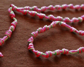 Knotted Rosary - Mint Bubblegum