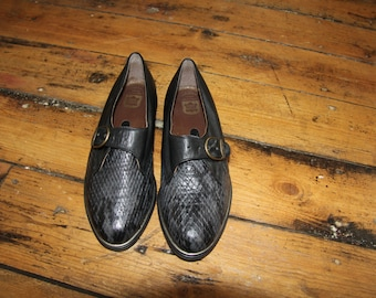 1960's Italian Leather Loafers (Size 6)