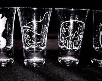 Snow White Shot Glass Set