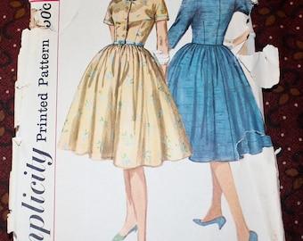 "1950's Original Vintage Sewing Pattern, Dress, Bust 34"""
