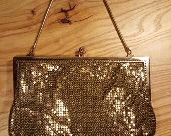 Vintage - Metallic Gold Clutch Purse