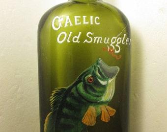 Large Mouth Bass on Gaelic Old Smuggler (bottle)