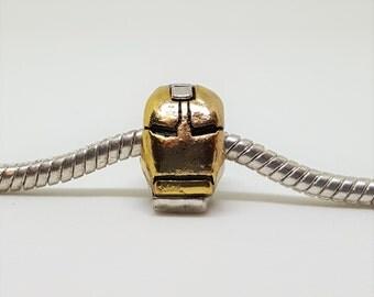Two Tone Iron Man Charm for European Bracelets (item 266)