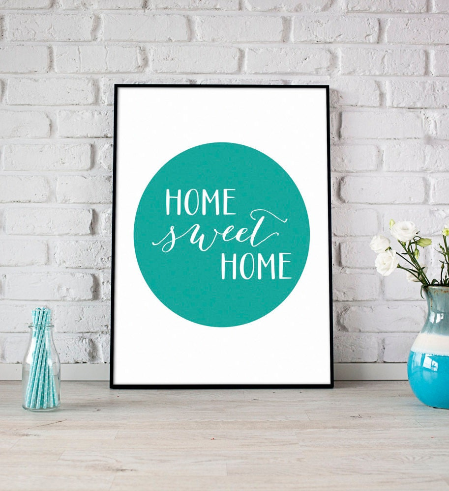 Home Sweet Home Print Digital Print Instant Download Home