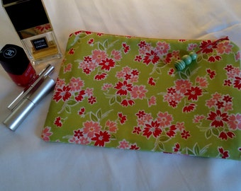 Cotton, Zippered pouch, Make up/Cosmetics/Pencil case
