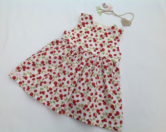Strawberry Dress, baby girl dress, girls dress, toddler dress, girls clothing, baby outfit, baby shower, baby gift, summer dress,