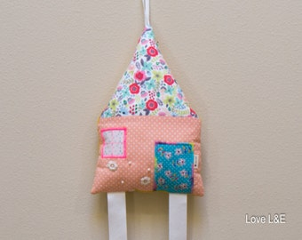 Hair bow holder, Hair bow organizer - Multi colored flower print