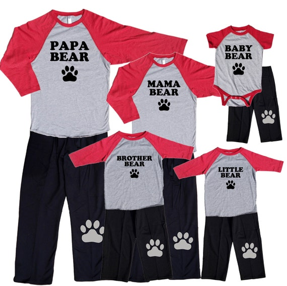 Bear Family Matching Shirt Pant Sets In Sizes Baby Kids