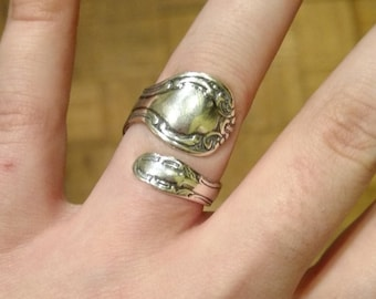 Sterling Silver Spoon Ring adjustable