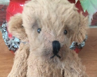 Handmade Artist Miniature Teddy Bear Smudge, by Fran's Bears 5.25 inches (13 cm) OOAK