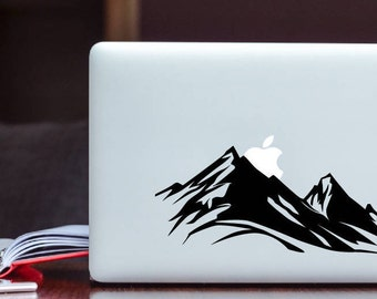 Mountain rising Apple Decal MacBook Decal / Laptop Decal / iPad Decal vinyl sticker