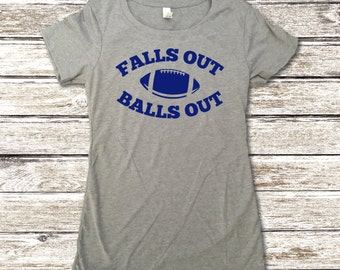 Falls Out Balls Out Shirt - Sunday Funday Shirt - Football Shirts - Funny Football Shirts - Football Tee - Football Party