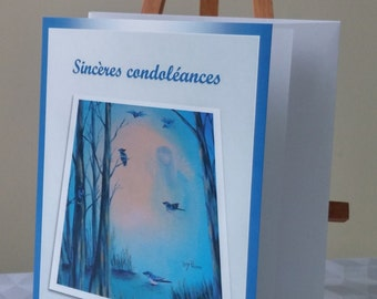 Carte de condoléances/Carte de voeux/Décès/Sympathies/Deuil/Départ/Ange - CD-S-1976-24