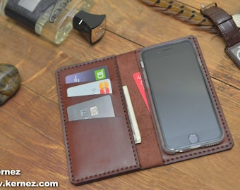 iPhone 6s Leather Wallet Case / iPhone 6 Leather Cover / Leather iPhone case / Horween / Chromexcel / C1