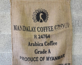 Set of 3 burlap coffee bags