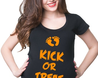 Maternity Halloween Gift Funny T-Shirt Baby Shower Tee Shirt Maternity Clothing New Mom New Dad New Baby Apparel Pregnancy Top