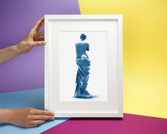 Venus de Milo Greek Sculpture, Cyanotype Print, A4 size (Limited Edition)