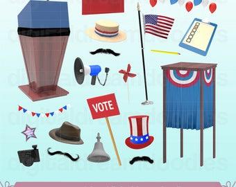 Election Clipart, Vote Clip Art, Podium Image, Voting Booth Graphic, Voter Ballot PNG, Politics, President, Mayor, Senator, Digital Download