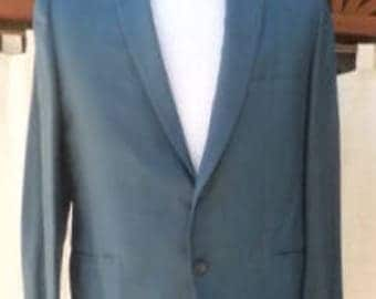 Size 40  SUIT 60s Blue two button summer