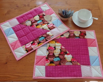 Cupcakes place mats - Tovagliette all'americana in patchwork
