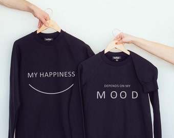 Birthday gift- couple clothes- just married- just married gifts- pullover sweatshirt- pullover hoodie- happy birthday- happiness- mood