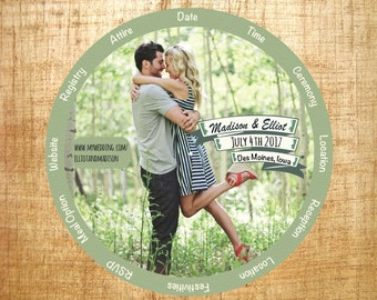 Wedding Wheel, Wheel Invitation, Printable Wedding Invitation, Personalized and Custom Wedding Invitations, Unique Printable Wedding Invite