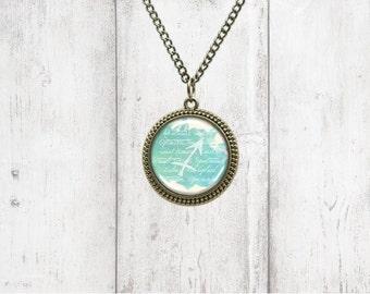 Astrology Pendant Necklace - Sagittarius - Birthstone Necklace
