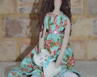 Handmade Tilda Doll - Yoga Doll