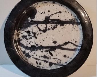 Jackson Pollock Inspired Dinner plate