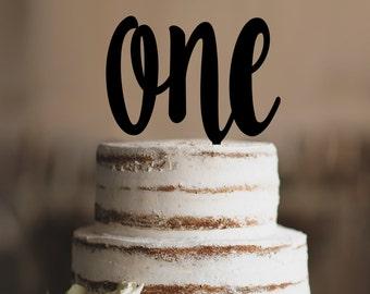 Turning One Cake Topper, First Birthday Cake Topper, Children's Birthday, One Year Anniversary Cake Topper - (T329)