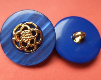 9 BUTTONS blue gold 21mm (4949) button jacket buttons