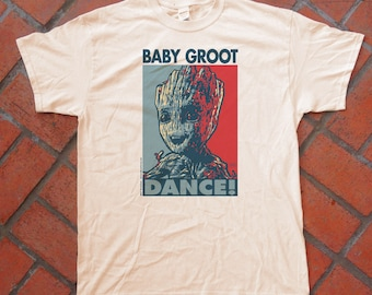 "BABY GROOT ""HOPE"" style T-Shirts - pre shrunk 100% cotton, short sleeve t-shirt - Guardians of the Galaxy"