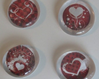 Valentines Day Magnets - Love Magnets - Heart Magnets - Gift Giving