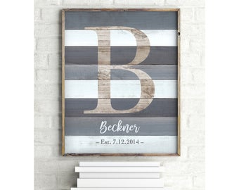 Family Established Sign, Custom Family Sign, Personalized Family Name Sign Wood, Housewarming Gift, Rustic Wall Decor, Wedding DIGITAL PRINT
