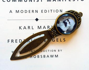 Karl Marx Bookmark -  Karl Marx Gift, Socialist Bookmark, Communism Gift,  Class Struggle Bookmark, Vintage Karl Marx Communist Bookmark