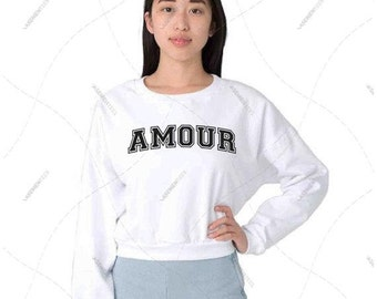 "Women - Girls - Premium Retail Fit ""Amour"" The Classic American Apparel Cropped Sweater (OS)"