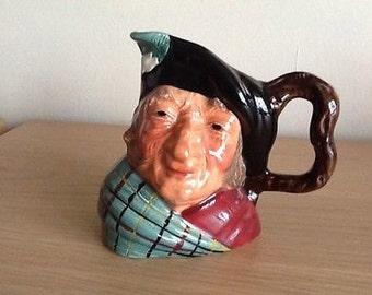 Vintage Toby Jug - Auld Mac Kelsboro Ware - Scottish Interest
