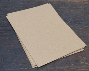 Kraft Card Stock, 25 Flat Sheets, A2 Card Stock, 8.5 x 5.5 inches, Recycled Paper, Premium Card Stock, Neutral Color Paper