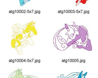 Mystic-Horse ( 10 Machine Embroidery Designs from ATW ) XYZ17D