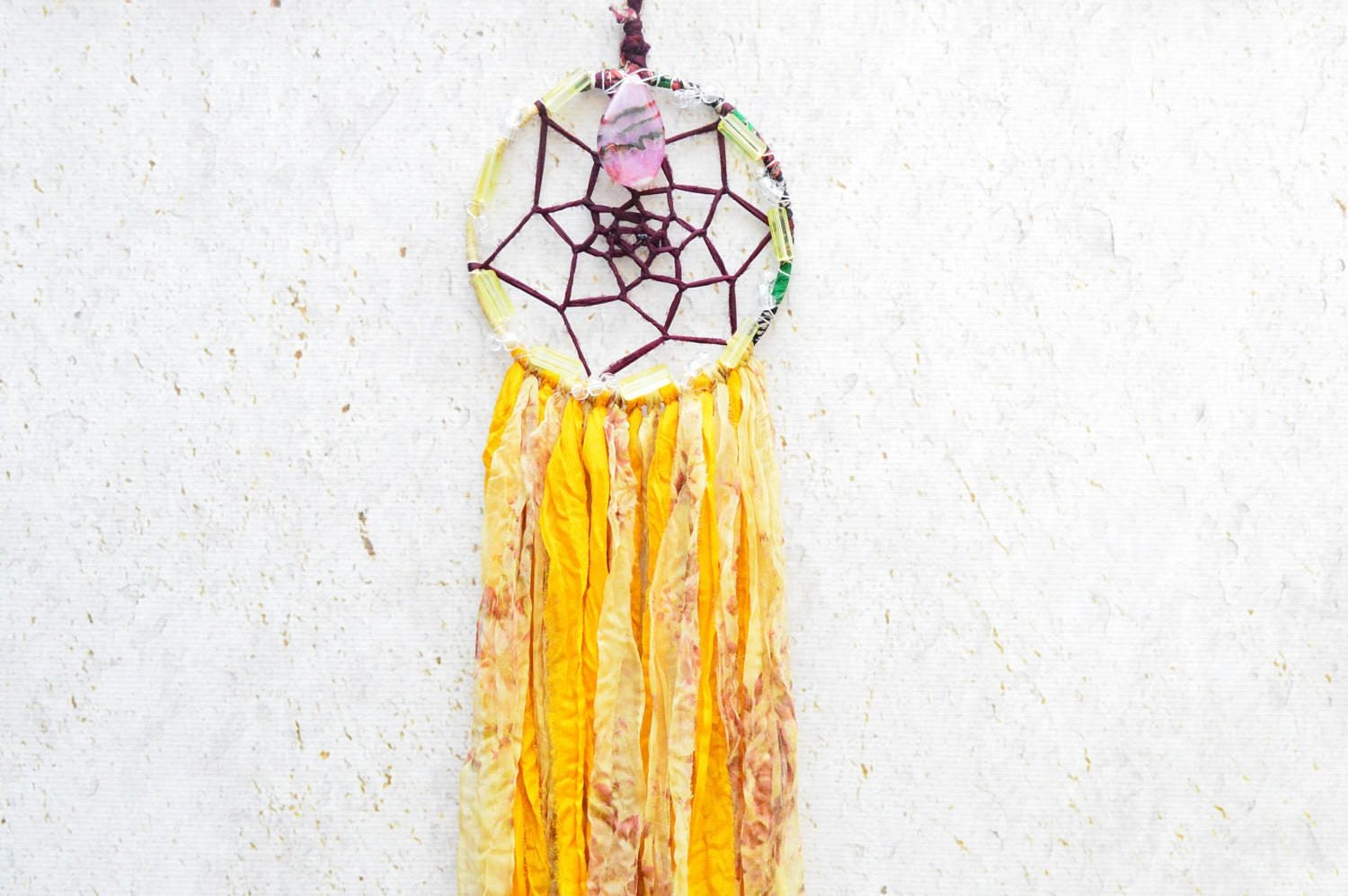 Agate Crystal Dreamcatcher, Dream Catcher, Crystal Dreamcatcher ...