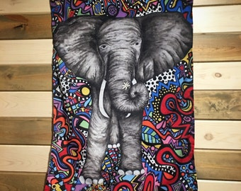 Elephant Wall Tapestry - Wall Tapestry - Flag