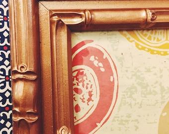 Reclaimed Vintage Bamboo-Motif Frame